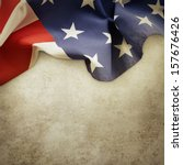 closeup of american flag on... | Shutterstock . vector #157676426
