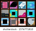 editable square abstract... | Shutterstock .eps vector #1576771810