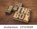 think outside the box   word... | Shutterstock . vector #157678289