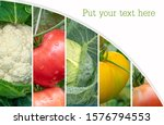 collage of healthy and fresh... | Shutterstock . vector #1576794553