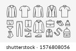 clothing icon set in linear... | Shutterstock .eps vector #1576808056