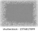 snow frame. frozen window.... | Shutterstock .eps vector #1576817899