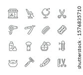 barbershop related icons  thin... | Shutterstock .eps vector #1576835710