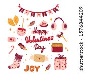 beautiful love stickers for... | Shutterstock .eps vector #1576844209