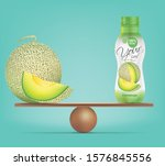 compare cantaloupe and balance... | Shutterstock .eps vector #1576845556