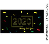 happy new year banner template... | Shutterstock .eps vector #1576846723