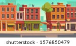 urban street landscape with... | Shutterstock .eps vector #1576850479