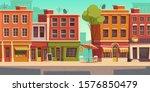 urban street landscape with... | Shutterstock .eps vector #1576850479