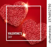 valentines day background with... | Shutterstock .eps vector #1576852750