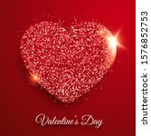 valentines day background with... | Shutterstock .eps vector #1576852753