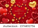 valentines day background with... | Shutterstock .eps vector #1576852756