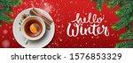hello winter horizontal banner. ... | Shutterstock .eps vector #1576853329
