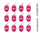 sales sticker tag with... | Shutterstock .eps vector #157685744