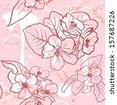 apple flower pattern.   Shutterstock .eps vector #157687226