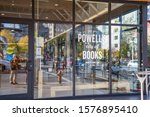 Small photo of Portland, Oregon: October 13, 2019: Powell's Books In the city of Portland, Oregon. Powell's Books is the largest independent bookstore in the world.
