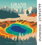 grand prismatic spring on... | Shutterstock .eps vector #1576914799