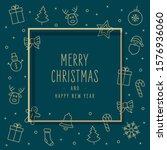 christmas icons elements...   Shutterstock .eps vector #1576936060