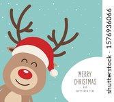 reindeer red nosed cute cartoon ...   Shutterstock .eps vector #1576936066