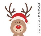 reindeer cute cartoon close up...   Shutterstock .eps vector #1576936069
