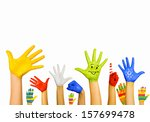 image of human hands in... | Shutterstock . vector #157699478