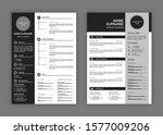 cv templates. professional... | Shutterstock .eps vector #1577009206