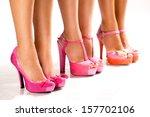 beautiful female feet in...   Shutterstock . vector #157702106
