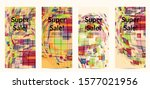 square pixel mosaic distorted... | Shutterstock .eps vector #1577021956