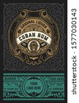rum label vintage design retro... | Shutterstock .eps vector #1577030143