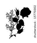 illustration with black flower... | Shutterstock .eps vector #15770302
