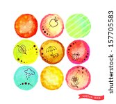 Set Of Nine Vector Circles With ...