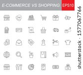 shopping vs e commerce line... | Shutterstock .eps vector #1577067766