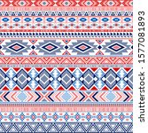 aztec american indian pattern... | Shutterstock .eps vector #1577081893