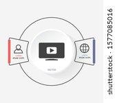 video play button icon . lorem...