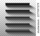 black shop product shelves.... | Shutterstock .eps vector #1577097379