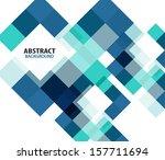 blue modern geometrical... | Shutterstock .eps vector #157711694