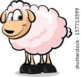 cartoon sheep   vector | Shutterstock .eps vector #157713599