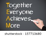 together everyone achieves more ... | Shutterstock . vector #157713680