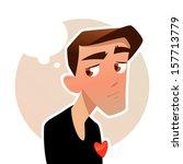 man in love | Shutterstock .eps vector #157713779
