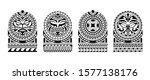 set of tattoo sketch maori... | Shutterstock .eps vector #1577138176