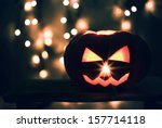 halloween photo of pumpkin | Shutterstock . vector #157714118