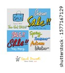 hand drawn black friday sale... | Shutterstock .eps vector #1577167129
