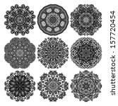 Circle Lace Ornament  Round...