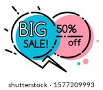 big sale and 50 percent off in... | Shutterstock .eps vector #1577209993