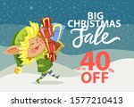 big christmas sale  up to 40... | Shutterstock .eps vector #1577210413