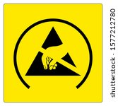 esd protective area symbol sign ... | Shutterstock .eps vector #1577212780