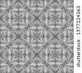 floral tiles line art pattern ... | Shutterstock .eps vector #1577224363