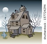scary haunted house | Shutterstock .eps vector #157724294