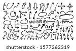 arrows hand drawn doodle vector ...   Shutterstock .eps vector #1577262319