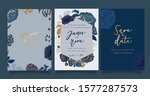 navy blue luxury wedding... | Shutterstock .eps vector #1577287573