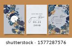navy blue luxury wedding... | Shutterstock .eps vector #1577287576